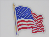 UNITED STATES OF AMERICA FLAG WAVEY  ( USA ) 3D EFFECT FRIDGE MAGNET FRIDGE MAGNET (1)